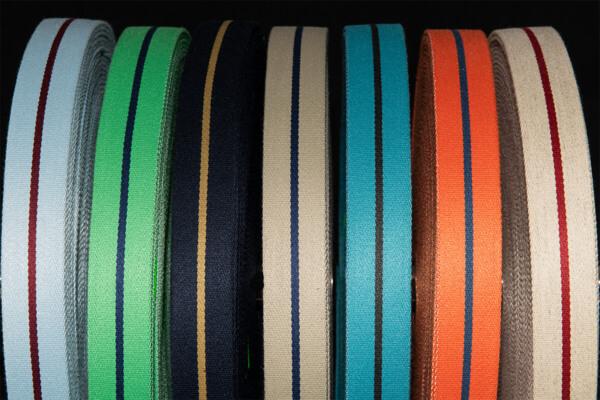 Taschengurt aus Oilskin Farbvielfalt