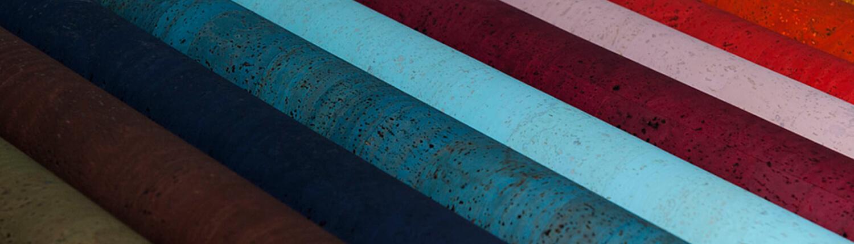 Kork Korkstoff Korkleder Farbkombinationen