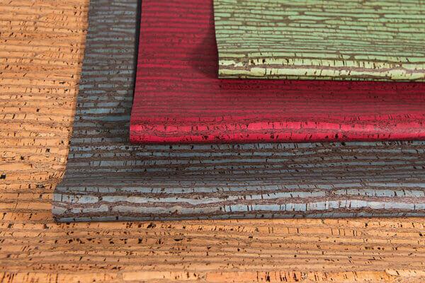 Premium-Korkleder-Rinde-farbkombinationen
