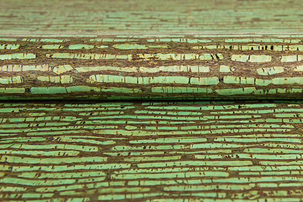 Korkstoff Muster Rinde grün