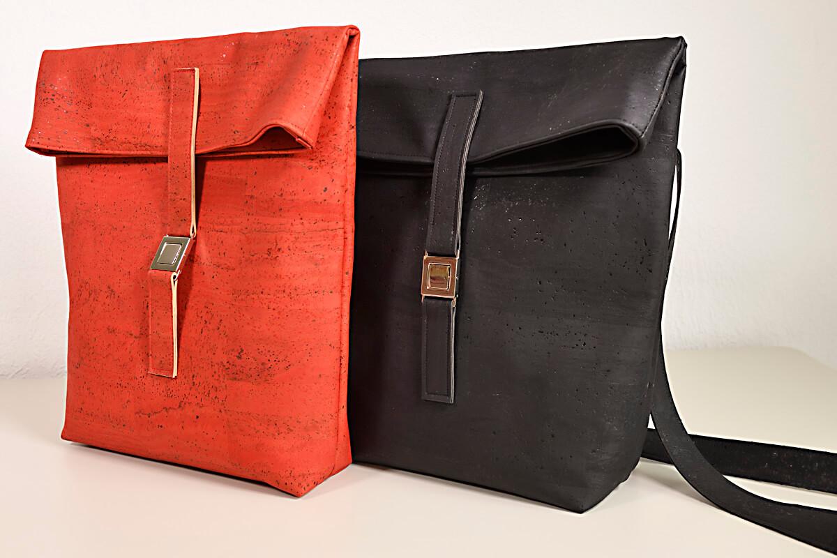 kostenlose Anleitung Rucksack aus Korkstoff