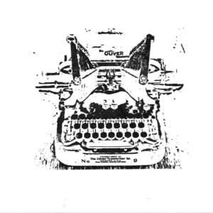 Thermofaxsieb Motiv Schreibmaschine