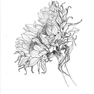 Thermofaxsieb Motiv Sonnenblume-1
