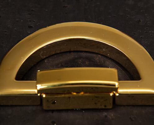 Taschenzubehör-Drehverschulss deluxe-vergoldet