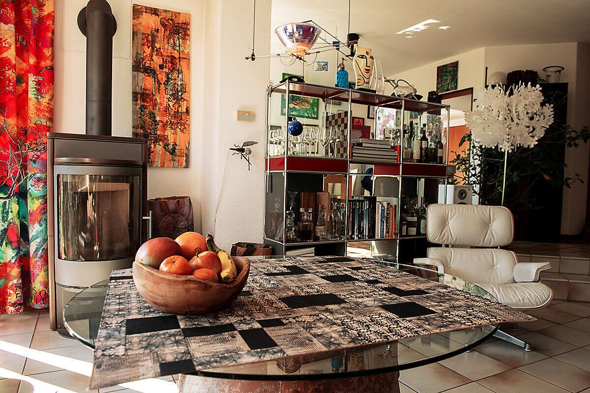 Detailbild zur kostenlosen Anleitung einer Tischauflage Tischdecke aus Korkstoff von korkundkulör