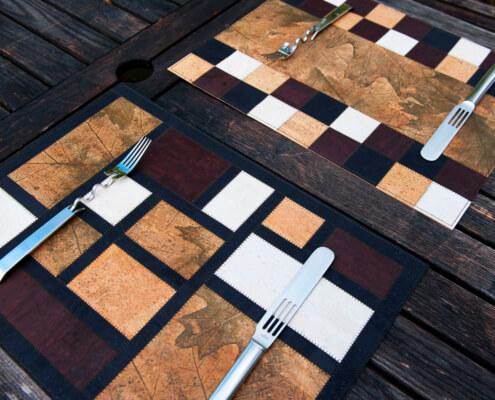 Herbstliche Tischsets-aus Korkleder