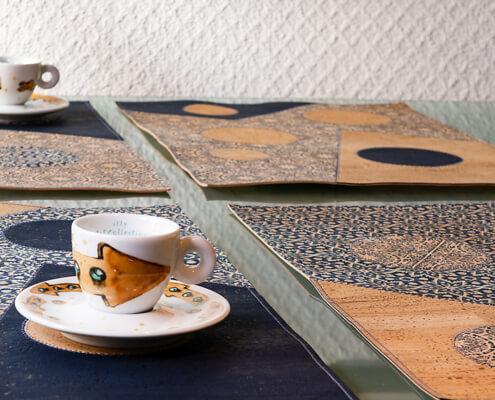 kostenlose Anleitung für Tischsets aus Korkstoff
