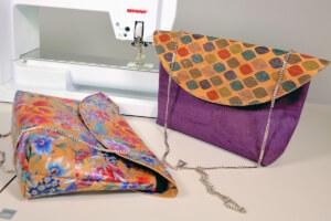 kleine Handtasche aus Korkstoff kostenloses Tutorial Korkledertasche
