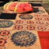 Tischsets Sommer korkundkuloer Druck Pusteblume auf Naturkork