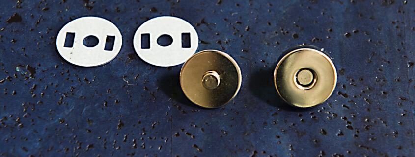 korkundkuloer taschenaccessoires druckknopf magnetisch vernickelt