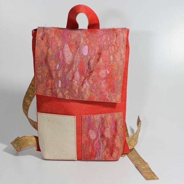 Designer Rucksack CORK-art, Backpack edition Jutta Hellbach