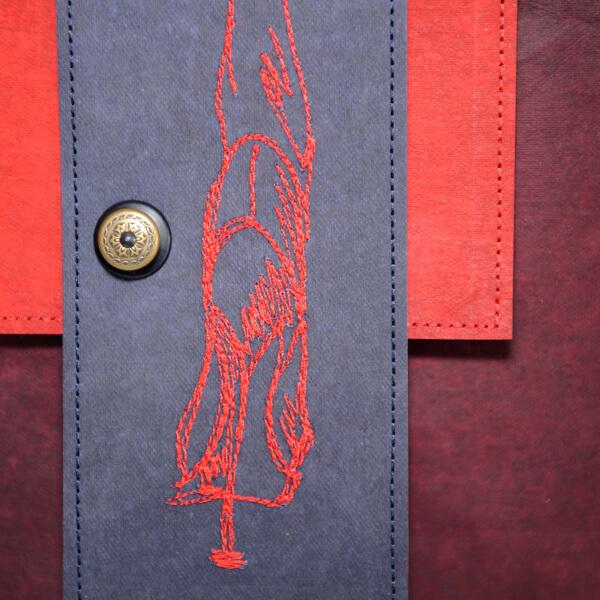 Umhängetasche SimplyEdition, Designtasche Edition Jutta Hellbach - elegante Stickerei - hochwertiger Loxx Verschluss
