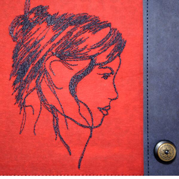 Umhängetasche SimplyEdition, Designtasche Edition Jutta Hellbach - elegante Stickerei