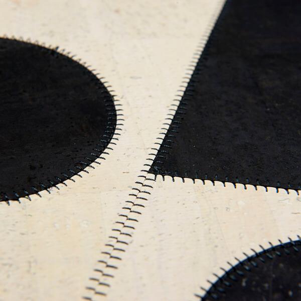 Contrasts, Tischsetpaar Edition Jutta Hellbach - Kontrast von Farbe und Form kombiniert mit aufwändigem Nahtbild