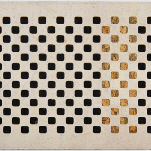 Squares, Tischset Edition Jutta Hellbach - cremefarbener Kork kombiniert mit farbigen oder naturfarbenen Quadraten