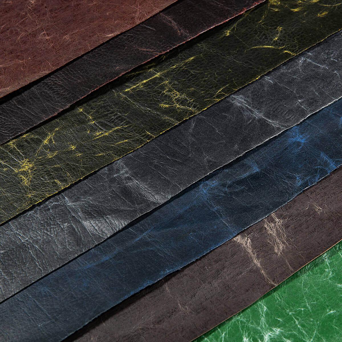 Lederpapier gewachst Farbspektrum von korkundkuloer